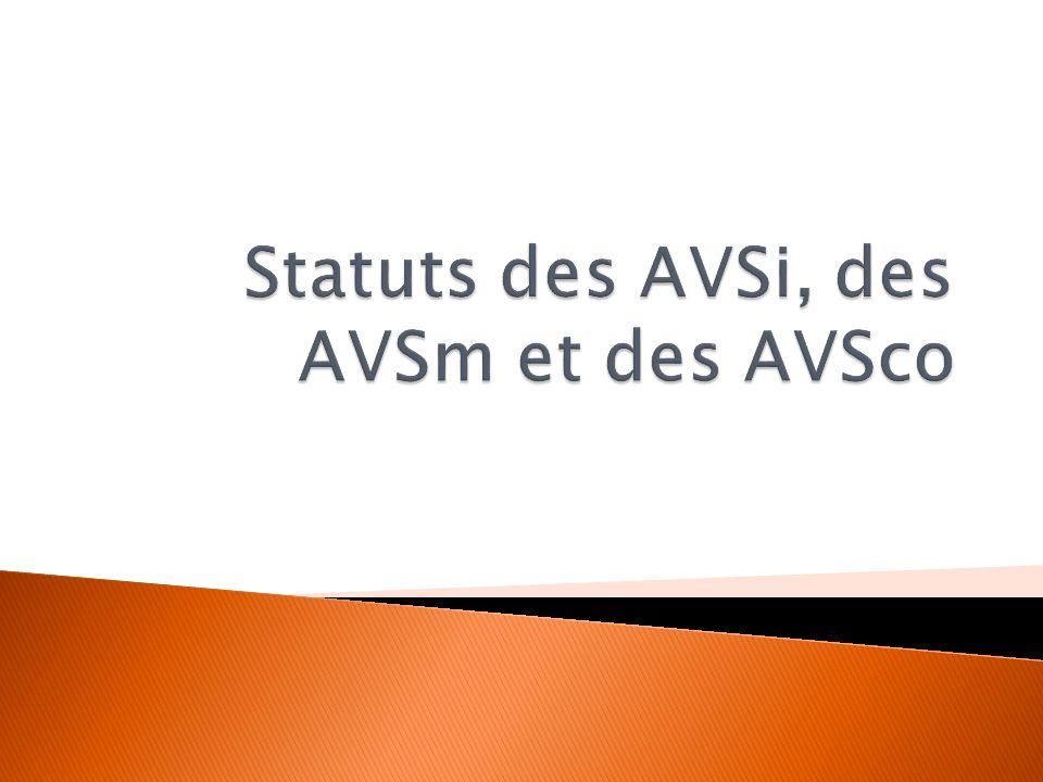 Statuts des AVSi, des AVSm et des AVSco