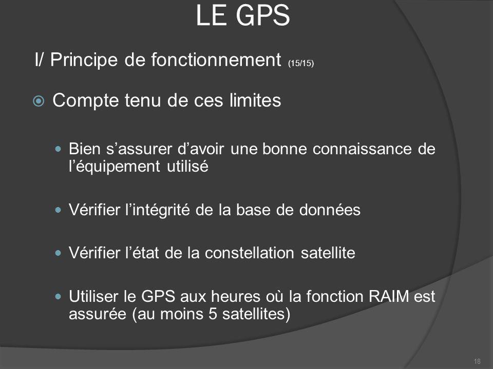LE GPS I/ Principe de fonctionnement (15/15)