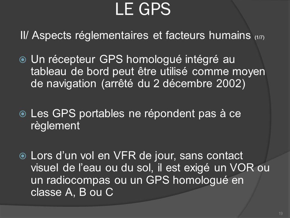 LE GPS II/ Aspects réglementaires et facteurs humains (1/7)