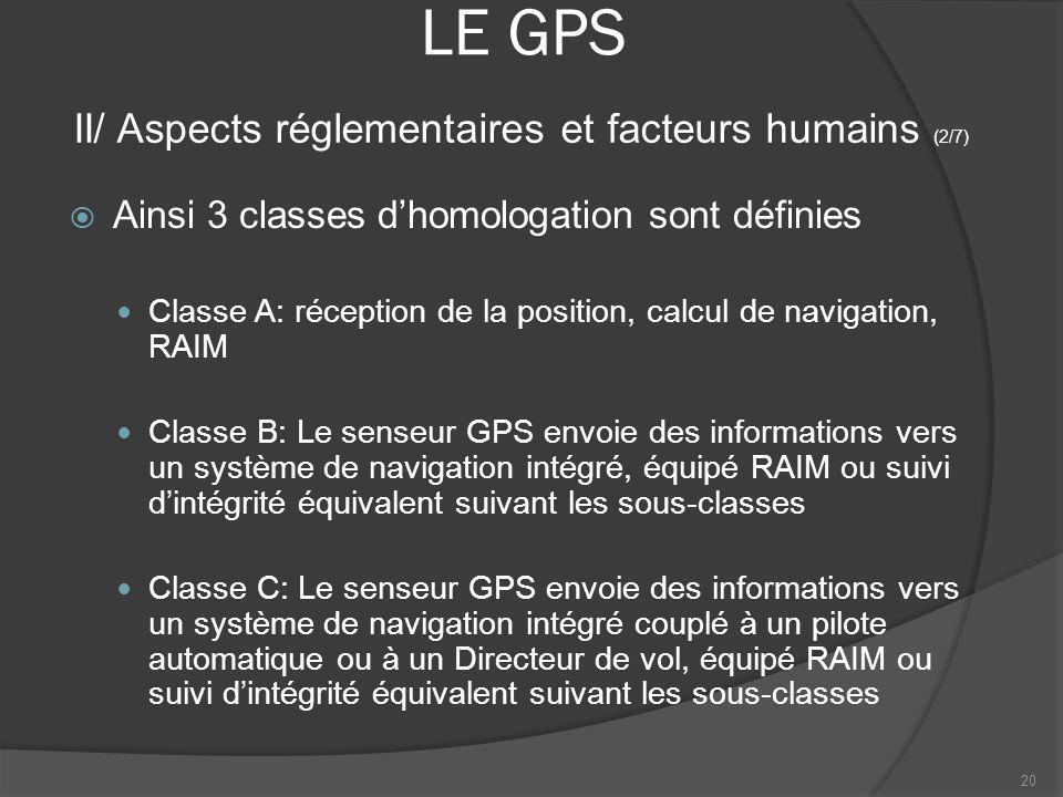LE GPS II/ Aspects réglementaires et facteurs humains (2/7)
