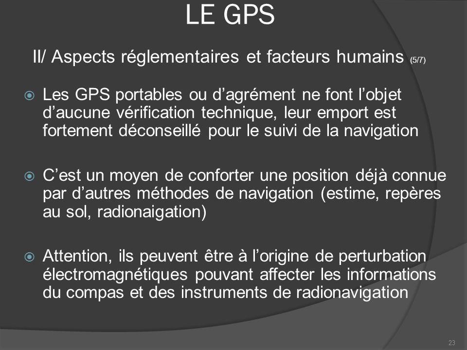 LE GPS II/ Aspects réglementaires et facteurs humains (5/7)