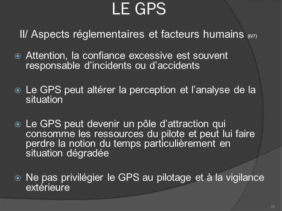 LE GPS II/ Aspects réglementaires et facteurs humains (6/7)