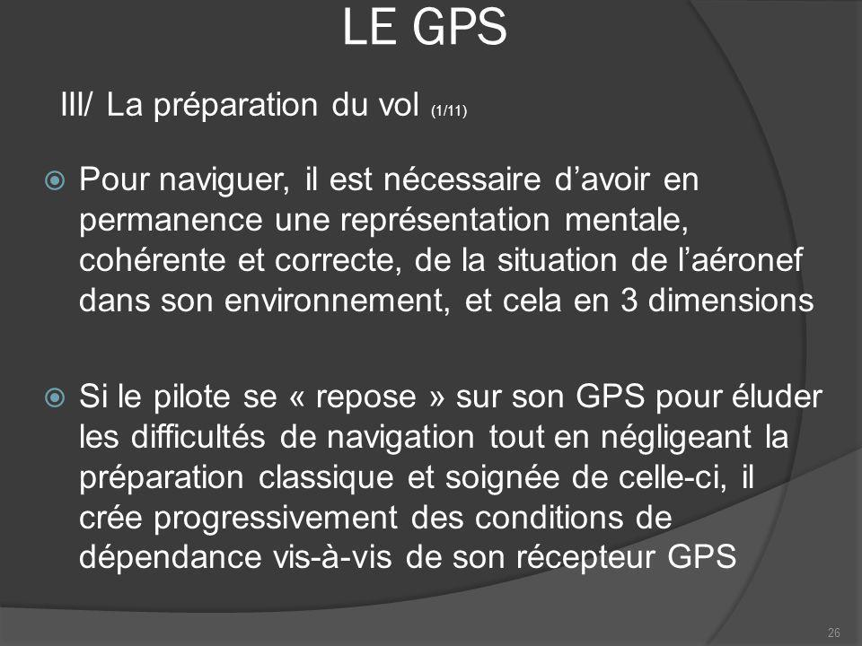 LE GPS III/ La préparation du vol (1/11)