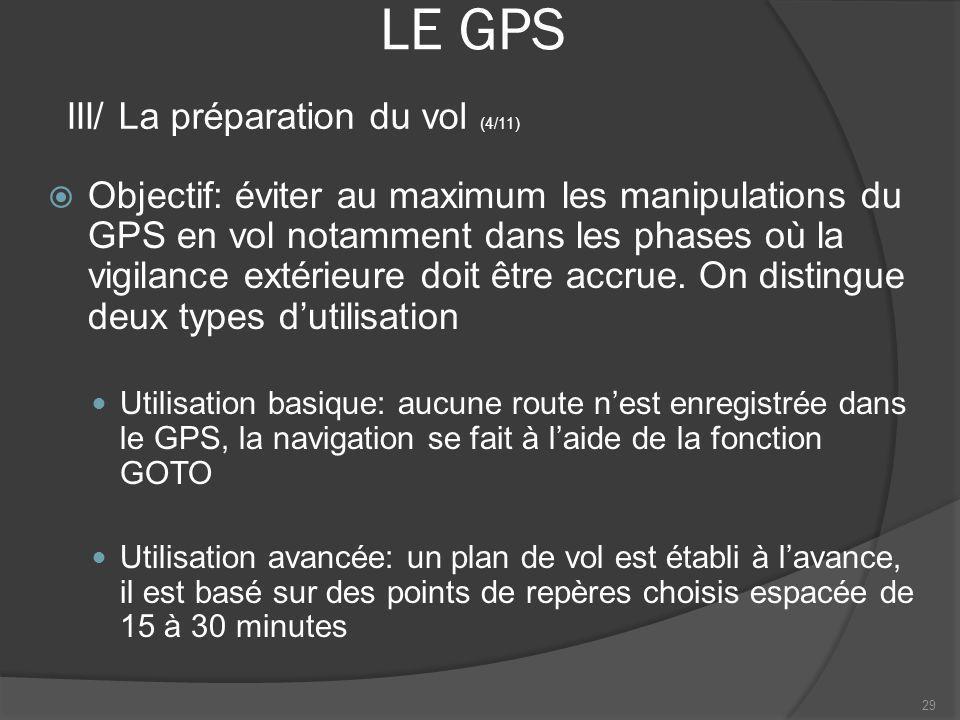 LE GPS III/ La préparation du vol (4/11)