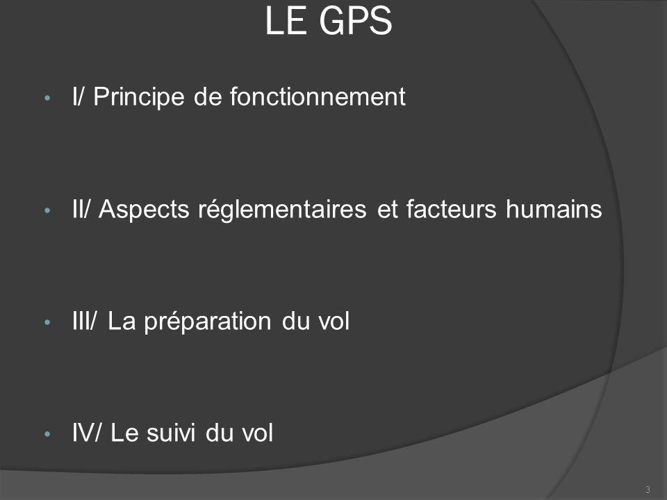 LE GPS I/ Principe de fonctionnement