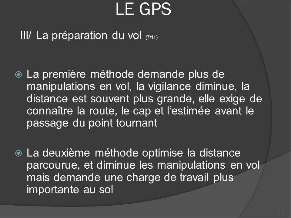 LE GPS III/ La préparation du vol (7/11)