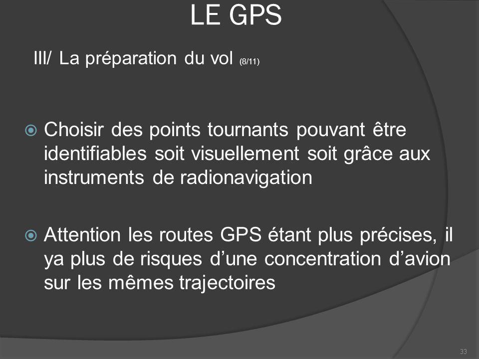LE GPS III/ La préparation du vol (8/11)