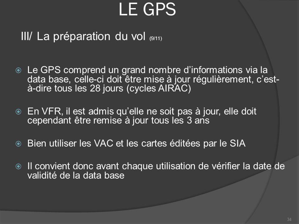 LE GPS III/ La préparation du vol (9/11)
