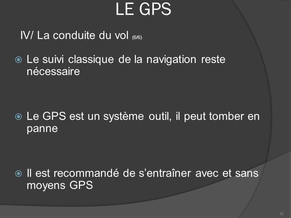 LE GPS IV/ La conduite du vol (6/6)