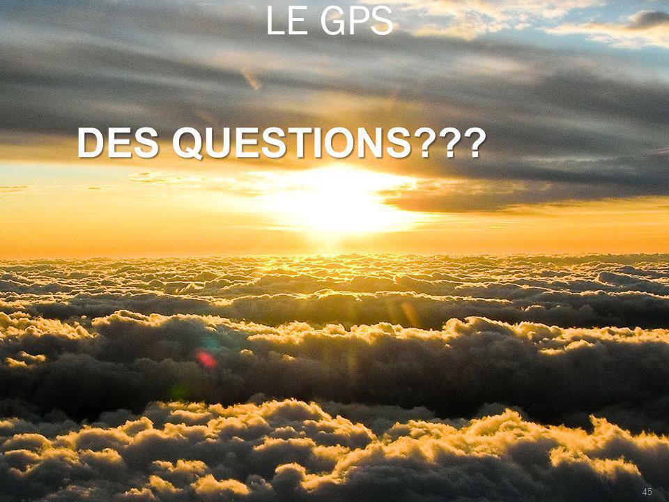LE GPS DES QUESTIONS