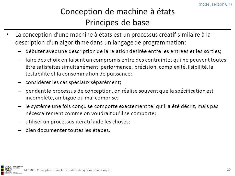 Conception de machine à états Principes de base