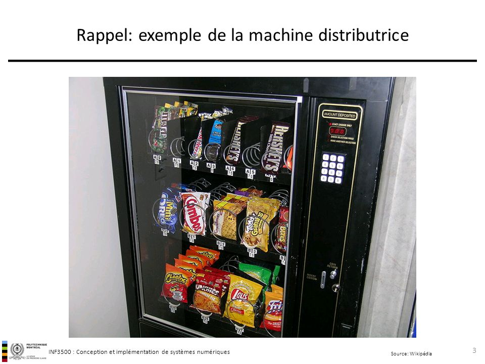 Rappel: exemple de la machine distributrice