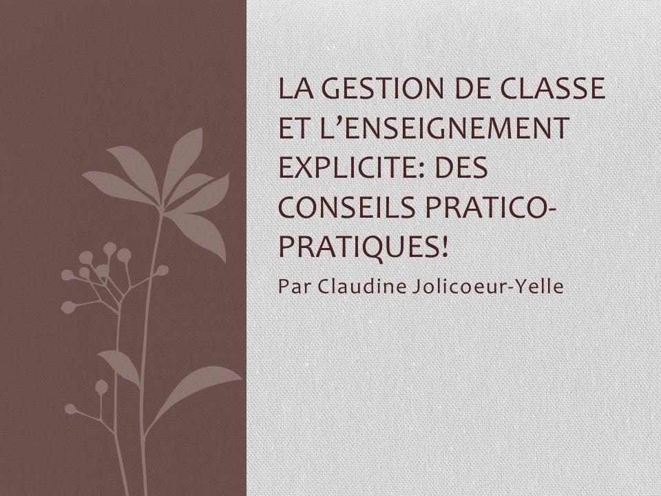 Par Claudine Jolicoeur-Yelle