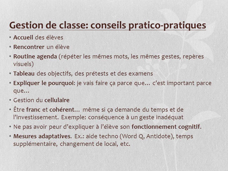 Gestion de classe: conseils pratico-pratiques