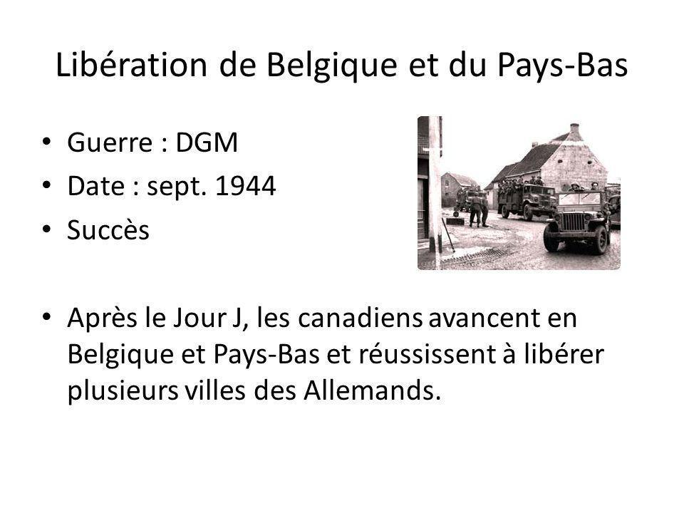 Libération de Belgique et du Pays-Bas