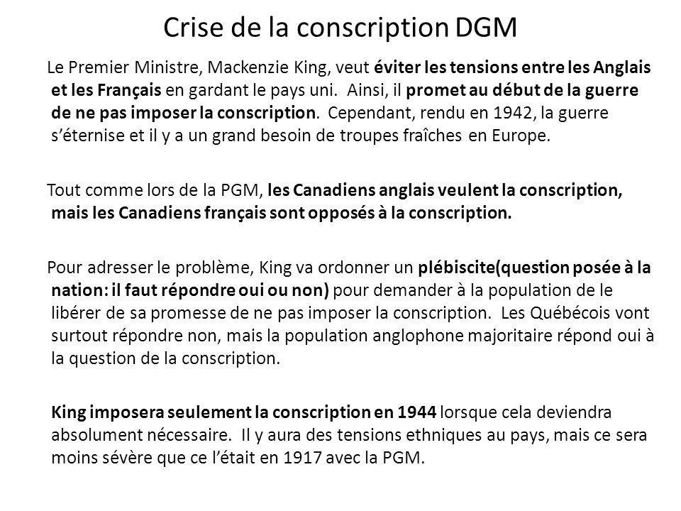 Crise de la conscription DGM