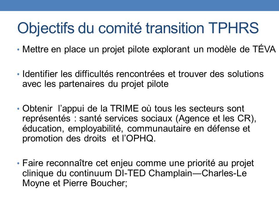 Objectifs du comité transition TPHRS