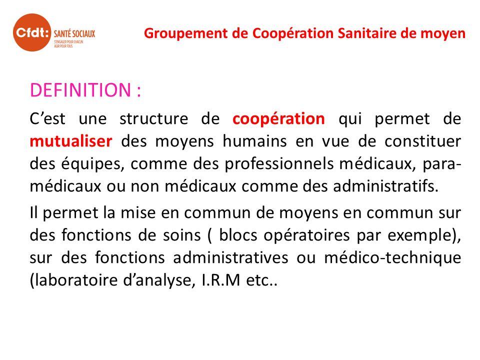 Groupement de Coopération Sanitaire de moyen