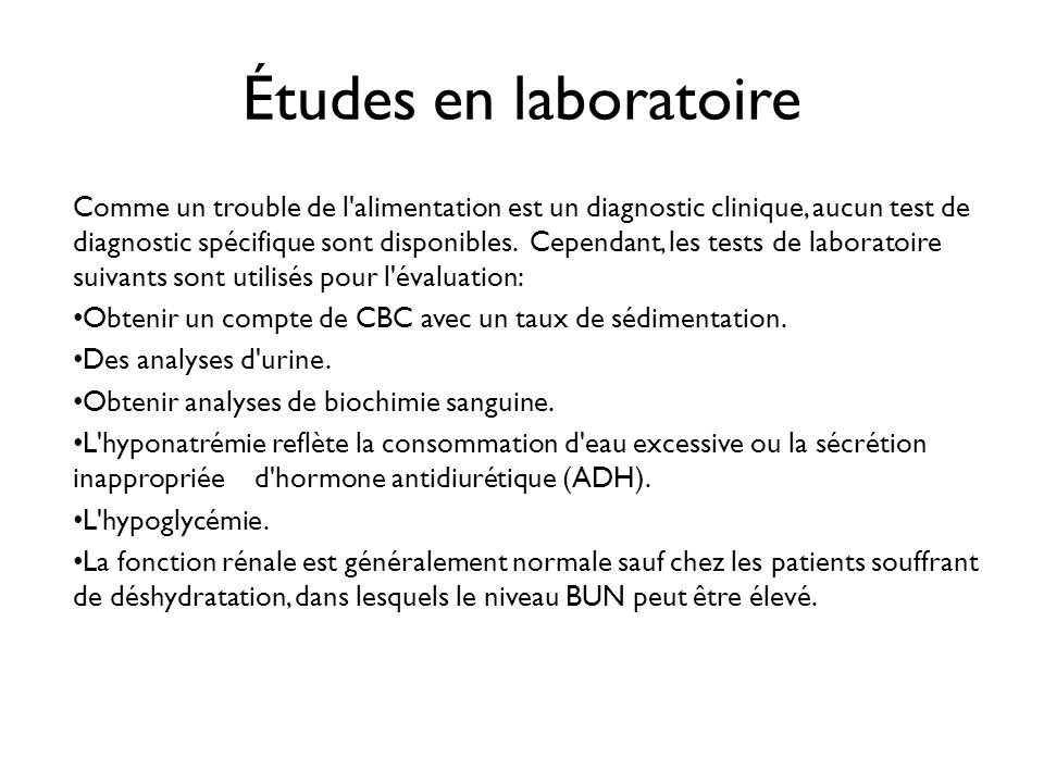 Études en laboratoire