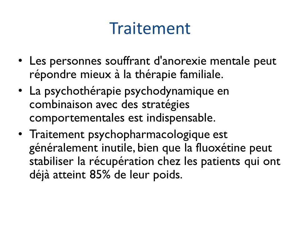Traitement Les personnes souffrant d anorexie mentale peut répondre mieux à la thérapie familiale.