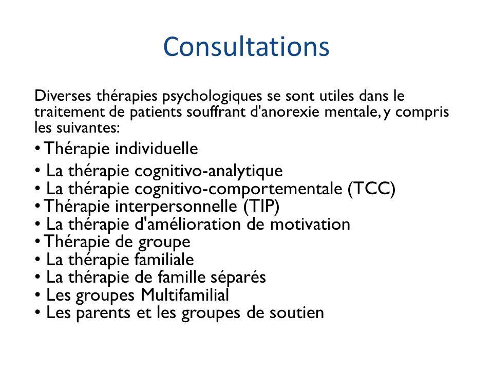 Consultations • Thérapie individuelle