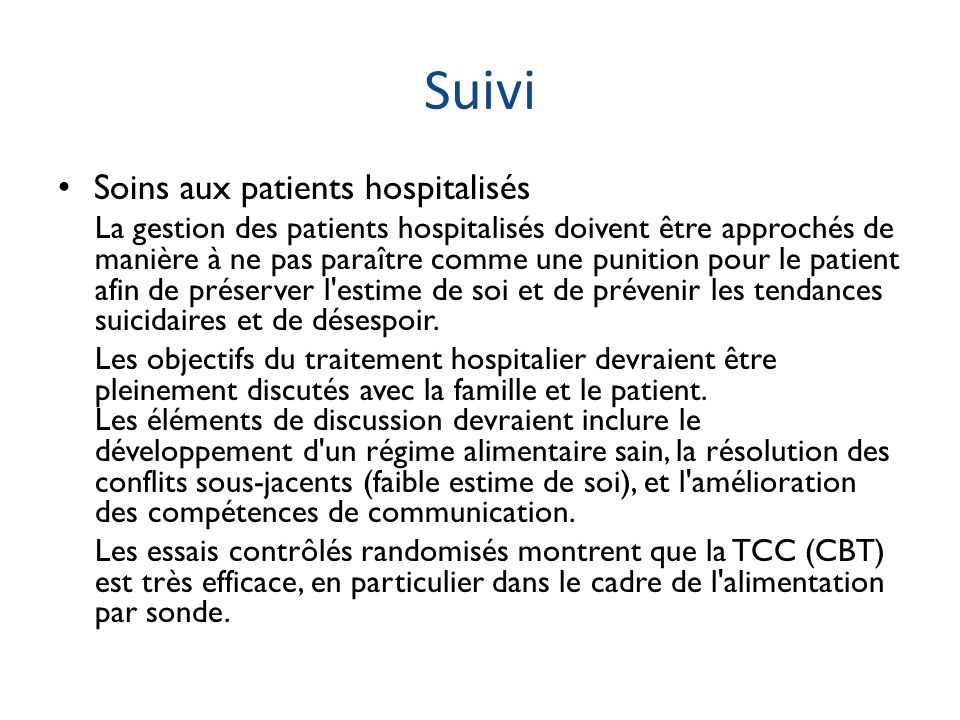 Suivi Soins aux patients hospitalisés