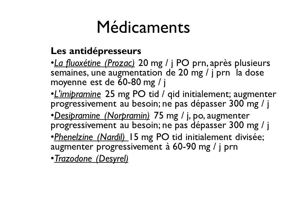 Médicaments Les antidépresseurs