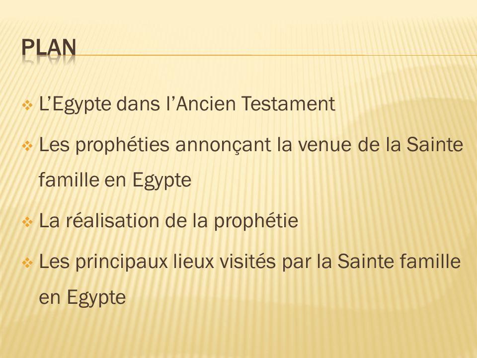 Plan L'Egypte dans l'Ancien Testament