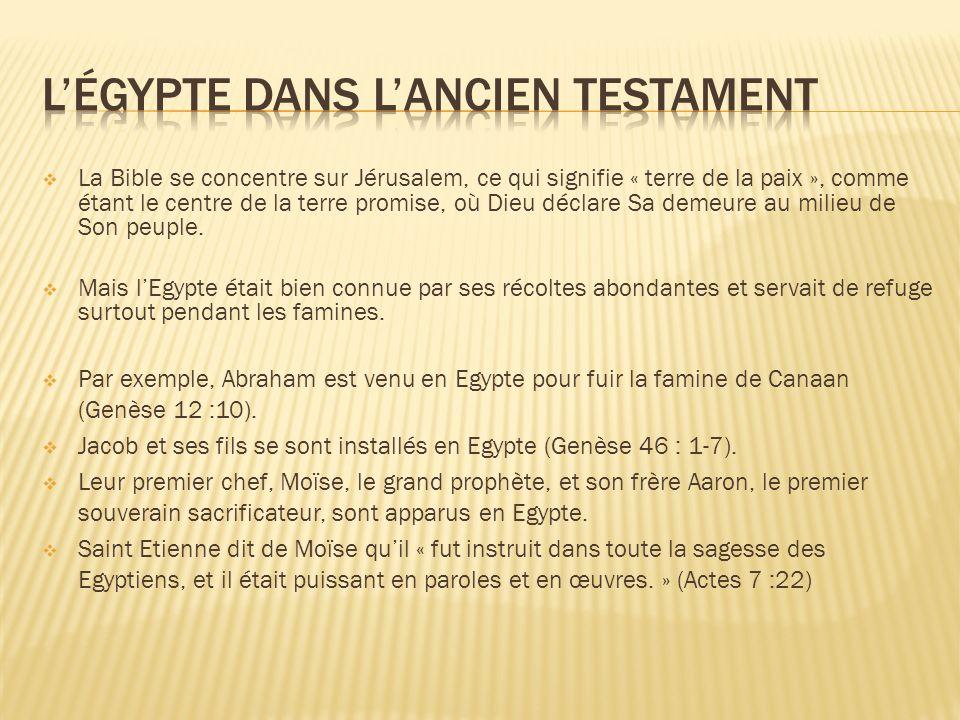 L'égypte dans l'ancien testament