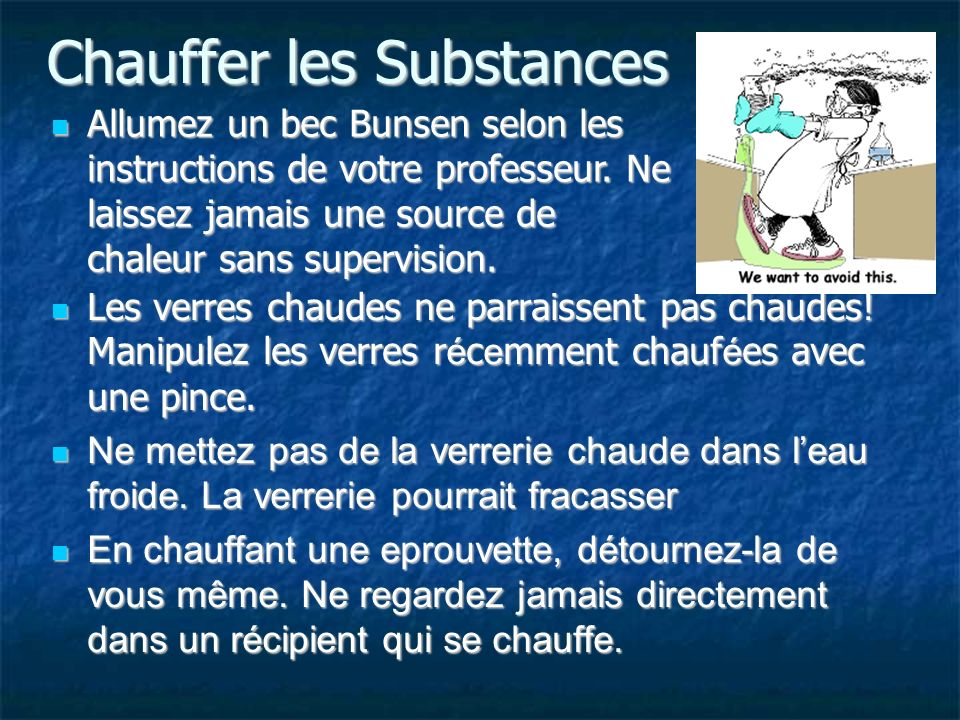 Chauffer les Substances