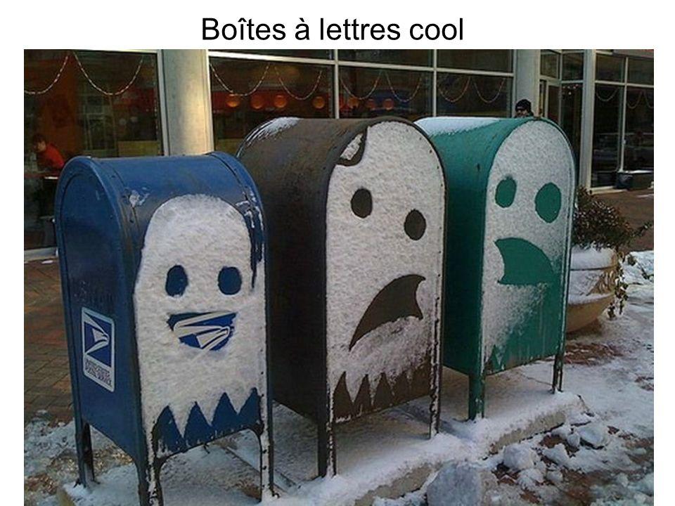 Boîtes à lettres cool