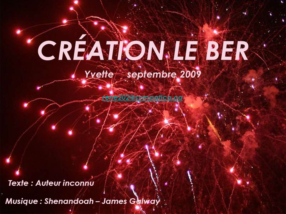 Musique : Shenandoah – James Galway