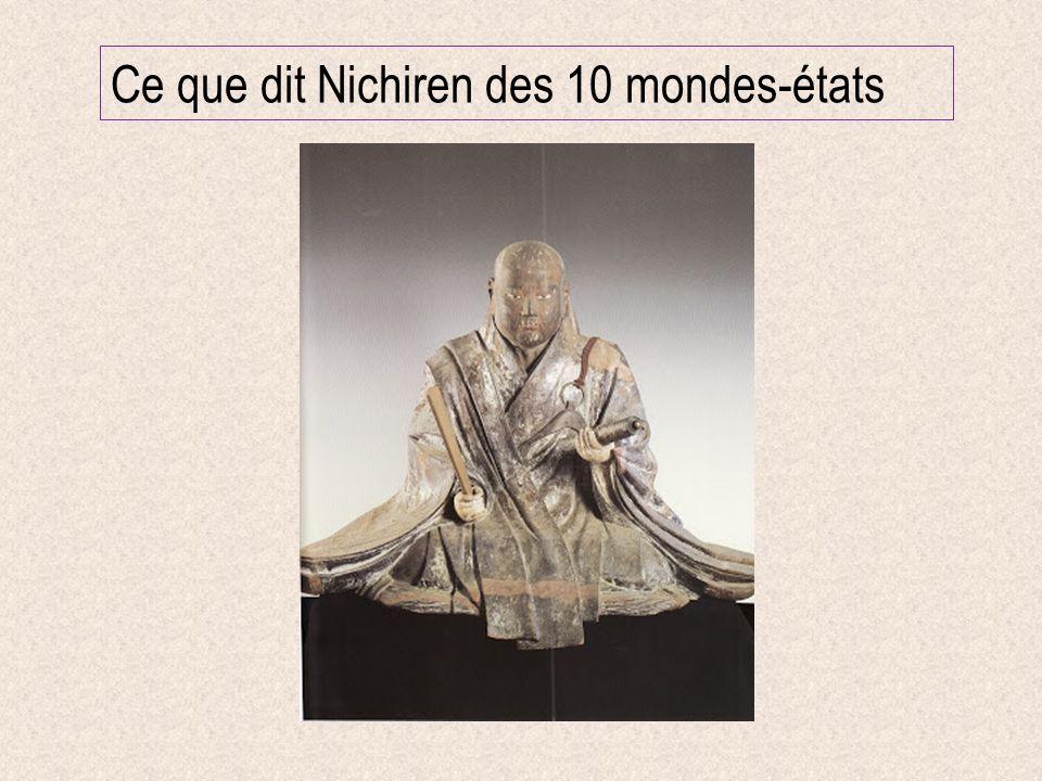 Ce que dit Nichiren des 10 mondes-états
