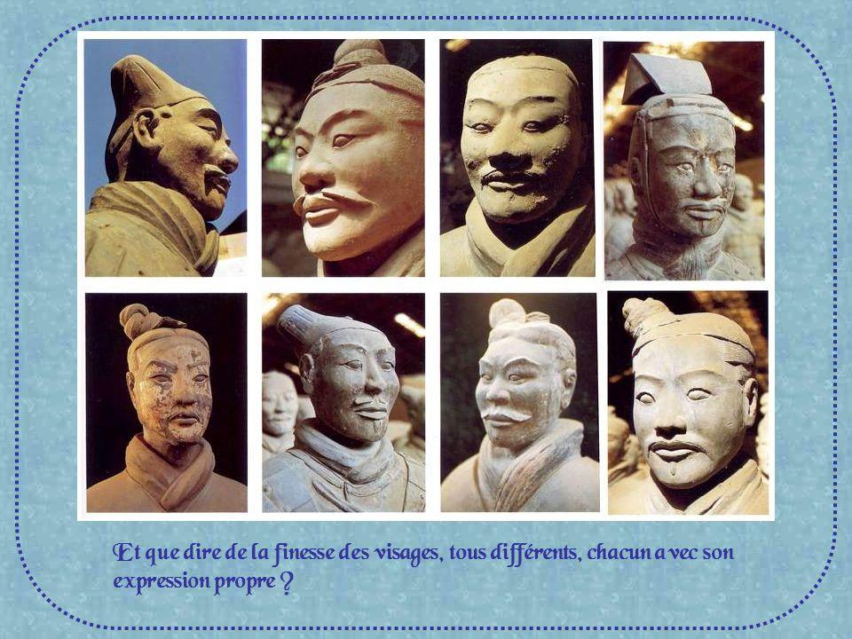 Et que dire de la finesse des visages, tous différents, chacun avec son expression propre