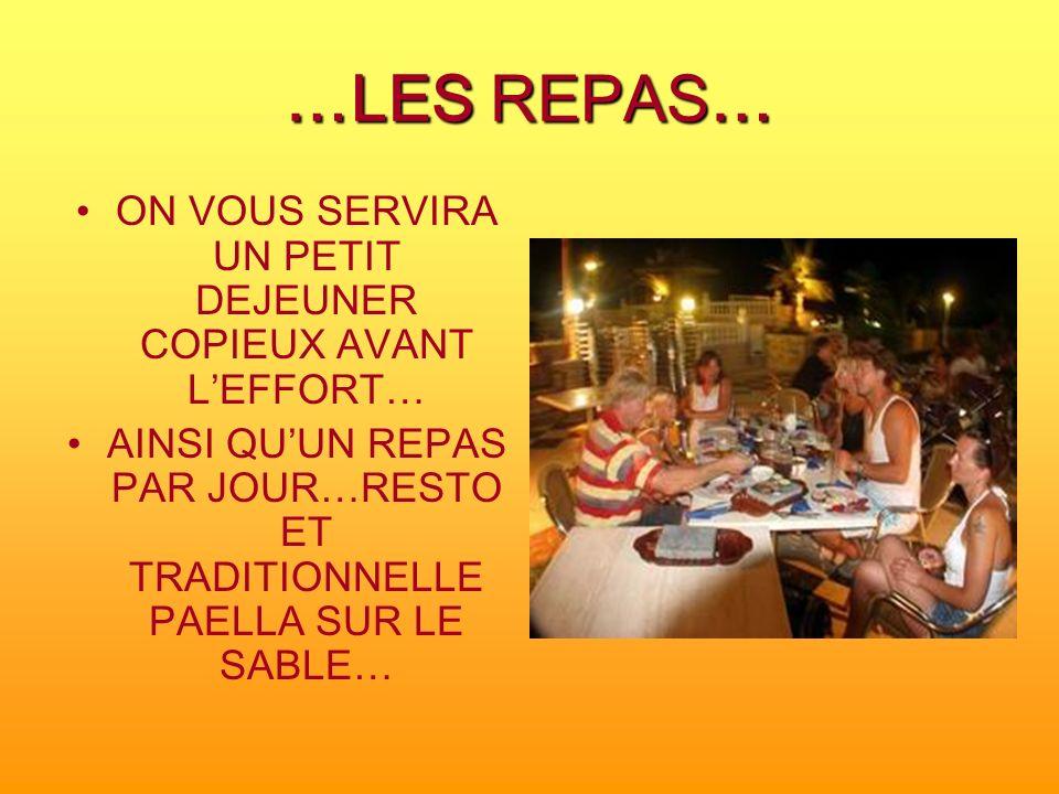 ON VOUS SERVIRA UN PETIT DEJEUNER COPIEUX AVANT L'EFFORT…