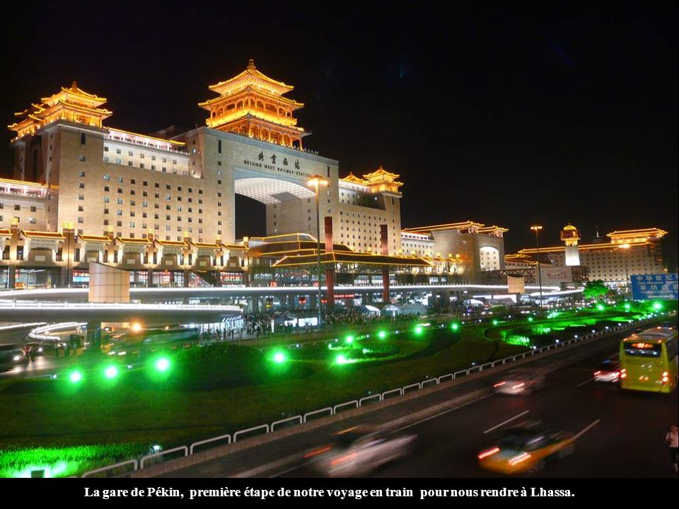 La gare de Pékin, première étape de notre voyage en train pour nous rendre à Lhassa.