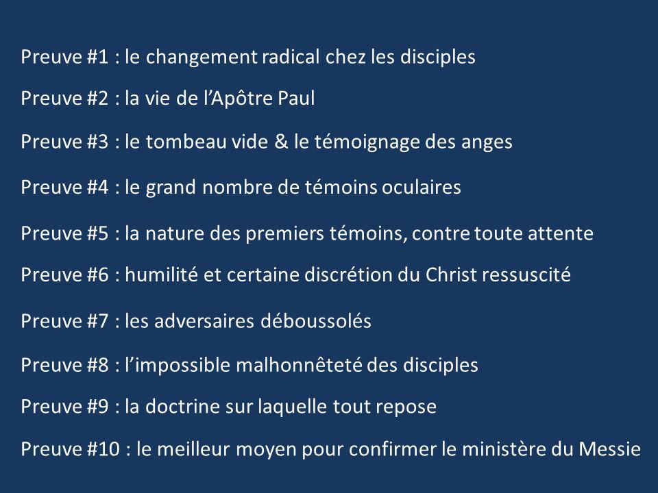 Preuve #1 : le changement radical chez les disciples