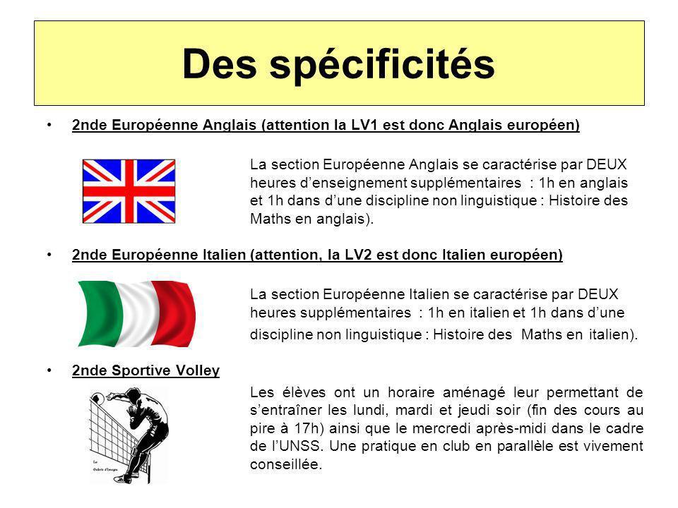 Des spécificités 2nde Européenne Anglais (attention la LV1 est donc Anglais européen)
