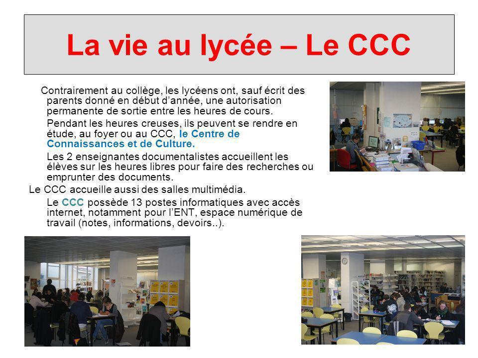La vie au lycée – Le CCC