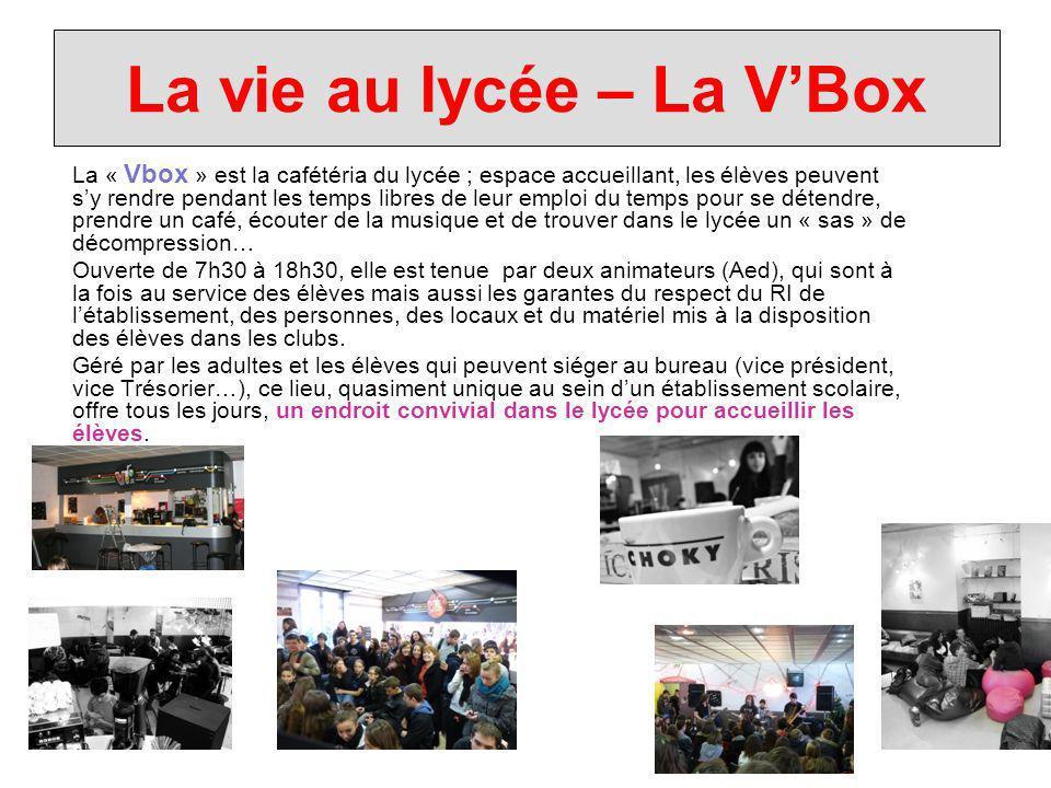 La vie au lycée – La V'Box