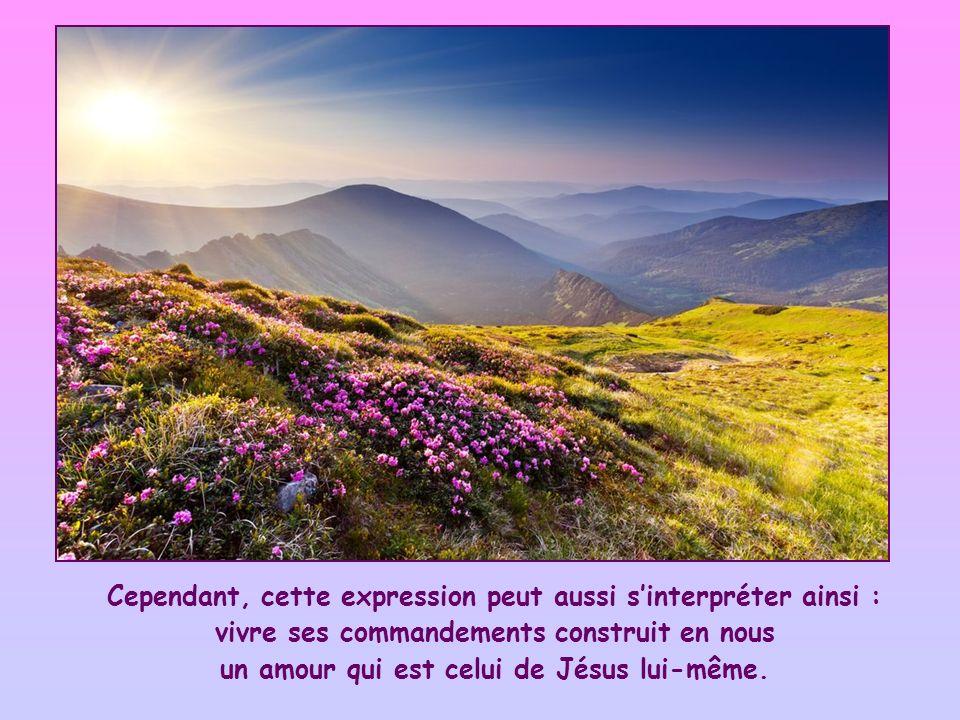 un amour qui est celui de Jésus lui-même.