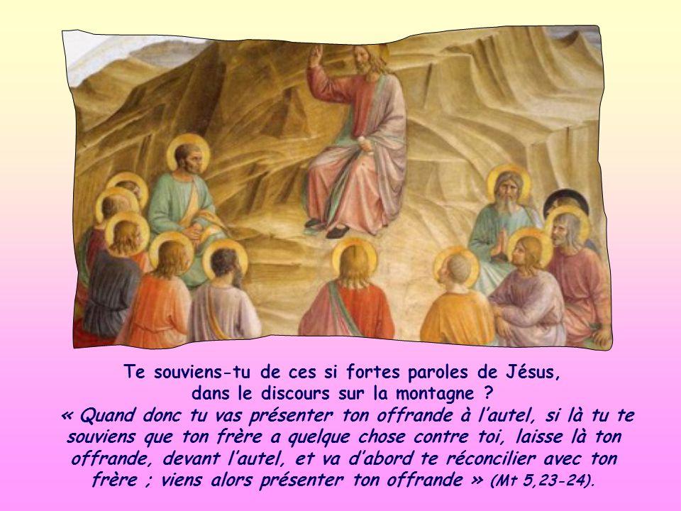 Te souviens-tu de ces si fortes paroles de Jésus, dans le discours sur la montagne