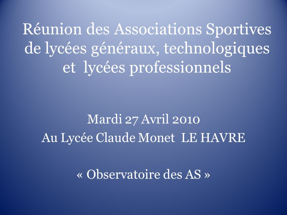 Au Lycée Claude Monet LE HAVRE