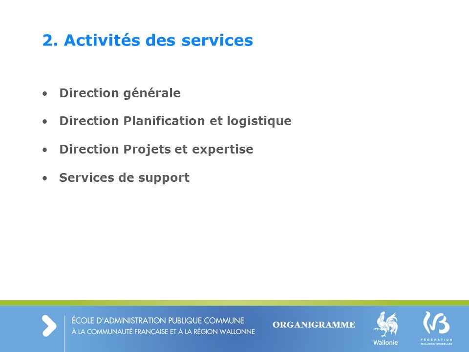 2. Activités des services