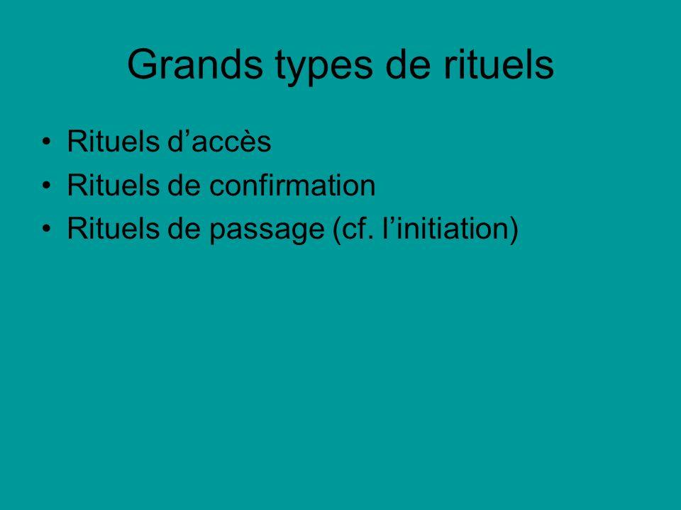 Grands types de rituels