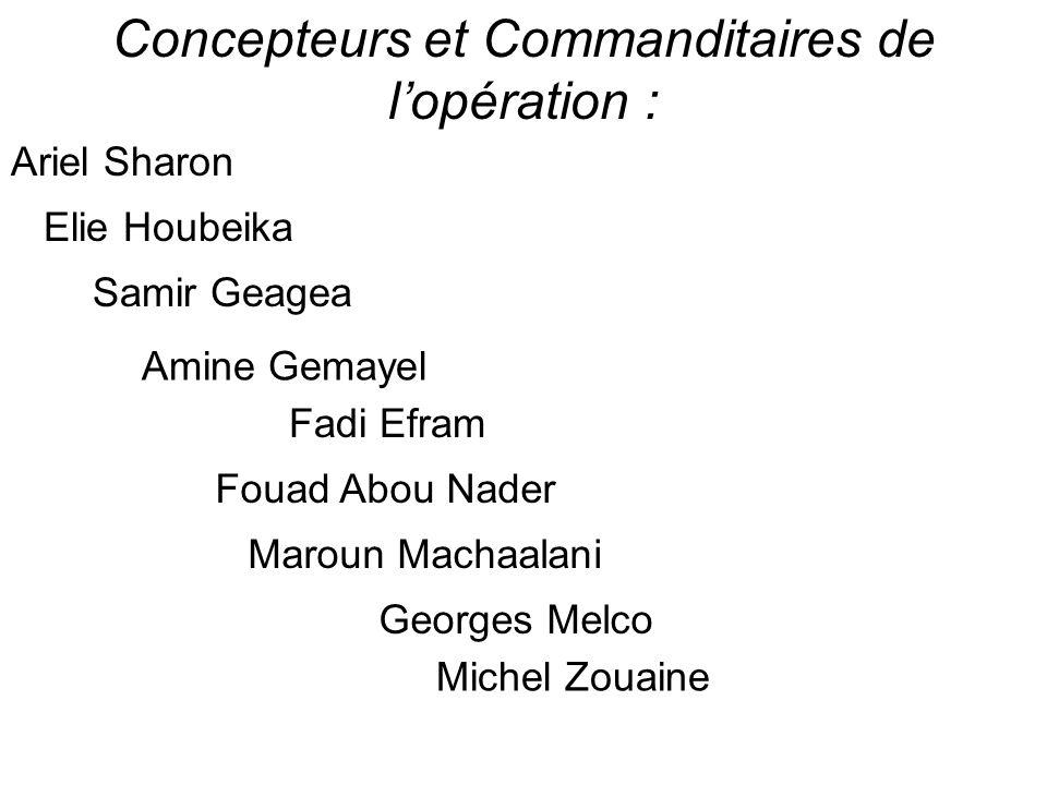 Concepteurs et Commanditaires de l'opération :