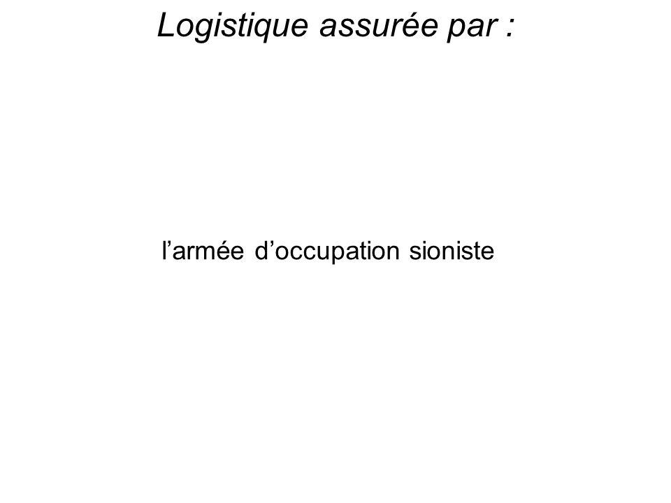 Logistique assurée par :