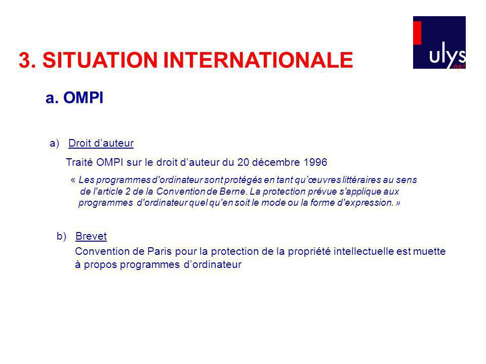 3. SITUATION INTERNATIONALE