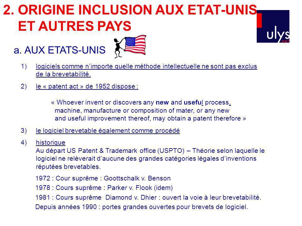 2. ORIGINE INCLUSION AUX ETAT-UNIS ET AUTRES PAYS