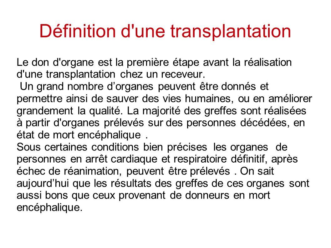 Définition d une transplantation